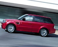 Red Land Rover Range Rover Sport 2012