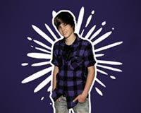 Justin Bieber In Purple Shirt