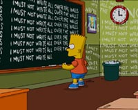 Simpsons In The Class
