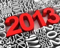 3D Creative Red 2013 New Year