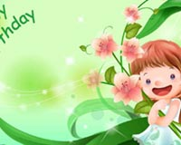 Cute Happy Birthday In Green