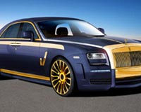 Blue And Yellow Rolls Royce