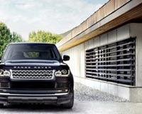 Range Rover In Front Of The Home