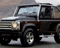 Black Land Rover Defender