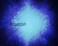 Aquarius On A Blue