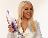 Christina Aguilera Wirh Her Award