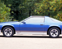 Blue Chevrolet Camaro