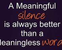 Silence Humor Wisdom