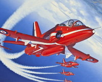 Trajner Plane Red Arrows