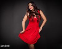 Dragana Mirkovic With Red Dress