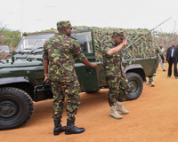 President Kenyatta In Full Combat Uniform