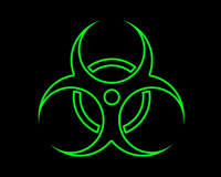 Green Biohazard Radioactive Symbol