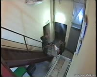 borwap.com Crazy Chick Gets Double Penetrated On The Stairs 3