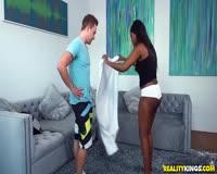 borwap.com Wicked Yoga Lesson For Ebony Babe