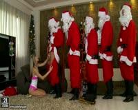 borwap.com Five Santa Guys Fucking Teen All Holes